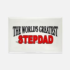 """""""The World's Greatest Stepdad"""" Rectangle Magnet"""