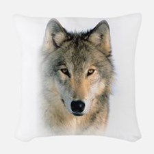 Wolf Woven Throw Pillow