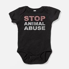 Stop Animal Abuse Baby Bodysuit