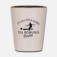 Unique Bowling designs Shot Glass