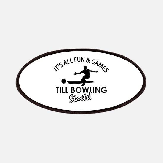 Unique Bowling designs Patches