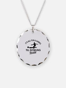 Unique Bowling designs Necklace