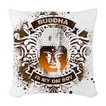 Buddha Is My Om Boy Woven Throw Pillow