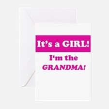 It's A Girl! I'm The Grandma Greeting Cards (Packa