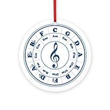 Blue Circle of Fifths Keepsake (Round)