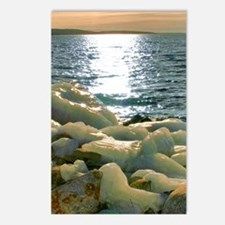 Icy Rocks By Lake Postcards (Package of 8)