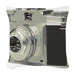 Vintage Camera Woven Throw Pillow