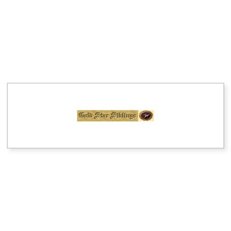 Gold Star Siblings Bumper Sticker