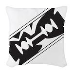 Razor Blade Woven Throw Pillow