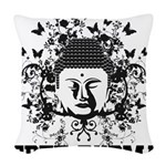 Buddha Free Burma Woven Throw Pillow