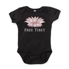 Lotus Free Tibet Baby Bodysuit