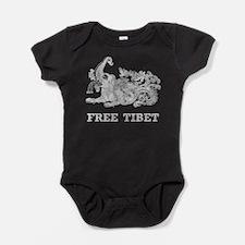 Vintage Free Tibet Baby Bodysuit