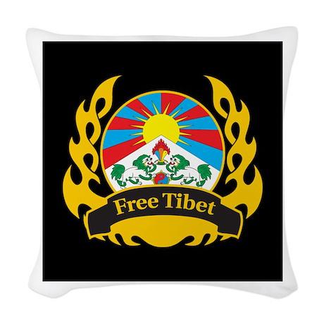 Flame Free Tibet Woven Throw Pillow
