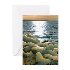 Icy Rocks by Lake Greeting Cards (Pk of 10)