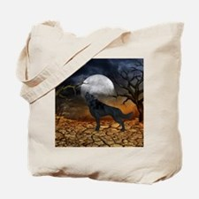 The lonely wolf in the night Tote Bag