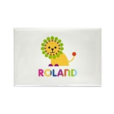 Roland Loves Lions Rectangle Magnet