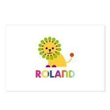 Roland Loves Lions Postcards (Package of 8)
