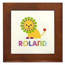 Roland Loves Lions Framed Tile