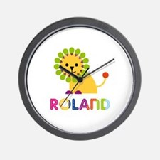Roland Loves Lions Wall Clock