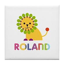 Roland Loves Lions Tile Coaster