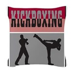Kick boxing Woven Throw Pillow