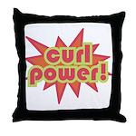 Curl Power Throw Pillow