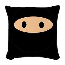 Cute Ninja Face Woven Throw Pillow