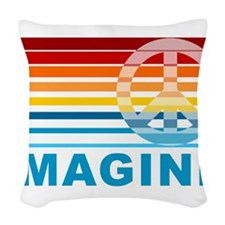 Imagine Peace Woven Throw Pillow
