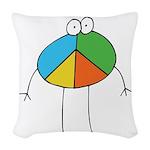 Peace Cartoon Woven Throw Pillow