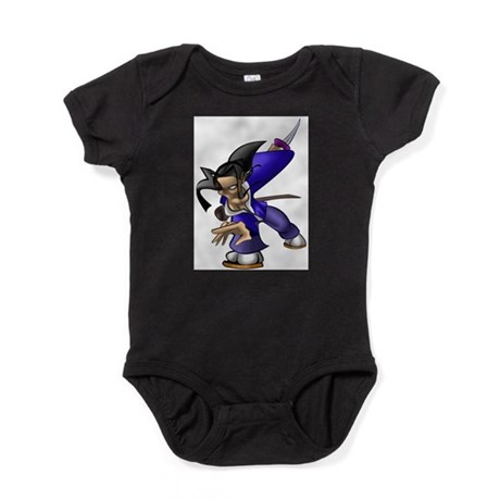 Anime Style Samurai Baby Bodysuit