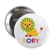 """Rory Loves Lions 2.25"""" Button"""
