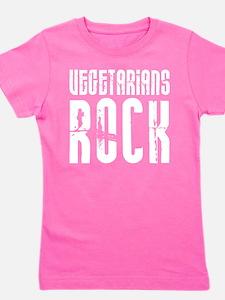 Vegetarians Rock Girl's Tee