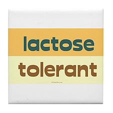 lactose tolerant Tile Coaster