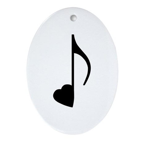 Eighth Love Notes Oval Ornament