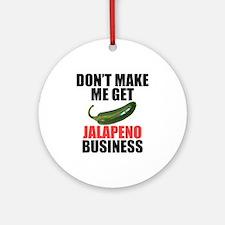 Jalapeno Business Ornament (Round)