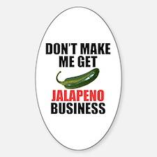 Jalapeno Business Sticker (Oval)