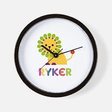 Ryker Loves Lions Wall Clock