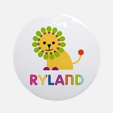 Ryland Loves Lions Ornament (Round)