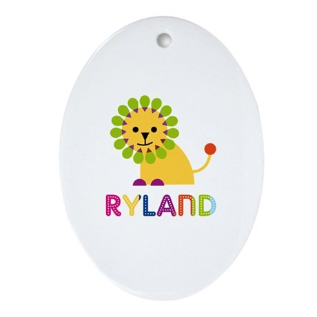 Ryland Loves Lions Ornament (Oval)