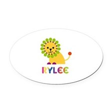 Rylee Loves Lions Oval Car Magnet