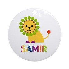 Samir Loves Lions Ornament (Round)
