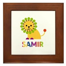 Samir Loves Lions Framed Tile