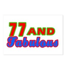 77 and fabulous Postcards (Package of 8)