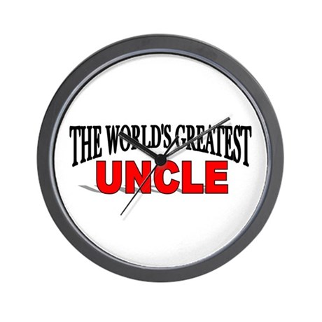 """""""The World's Greatest Uncle"""" Wall Clock"""