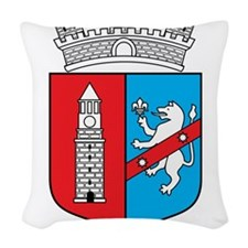 Tirana Coat Of Arms Woven Throw Pillow