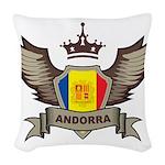 Andorra Emblem Woven Throw Pillow
