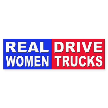 Sticker - Bumper - Real Women Drive Trucks - фото 8