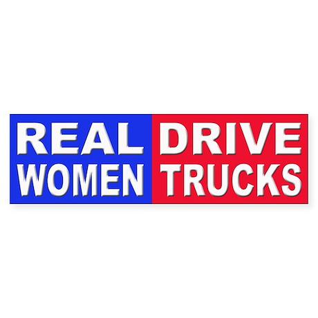 Sticker - Bumper - Real Women Drive Trucks - фото 8