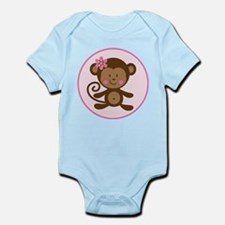 Cute Monkey Girl Infant Bodysuit