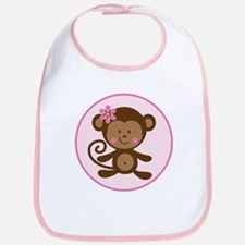 Cute Monkey Girl Bib